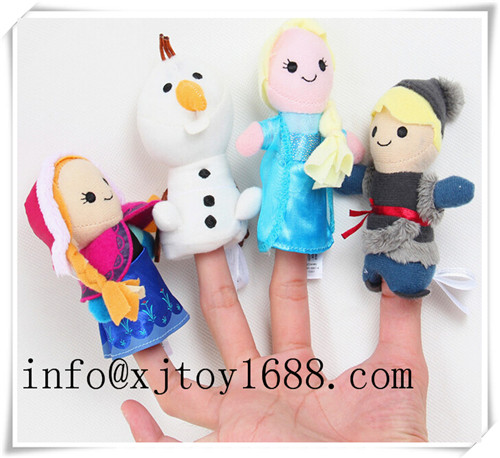 plush hand puppet and finger puppet